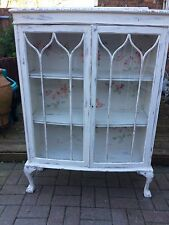 Shabby Chic Cupboard,Vintage,Old,Unit,Storage,Glass,Cheap,Sale,Display,Shop,