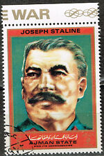 Ajman WW2 Soviet Red Army Leader Marshal Stalin stamp 1970