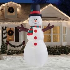 12' Lighted Snowman Holiday Christmas Outdoor Inflatable (New in Box)