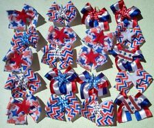 20 4th of July Patriotic Decorated Dog Bows Dog Grooming Bows top quality ribbon