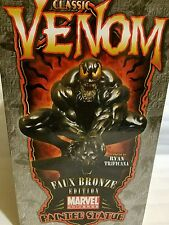 SIGNED SKETCHED By R. BOWEN VENOM FAUX BRONZE STATUE CLASSIC PAINTED SPIDER-MAN