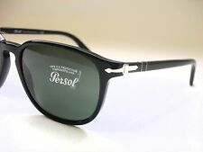 NEW AUTHENTIC PERSOL PO3019S 95/31 BLACK/CRYSTAL GREEN 55mm SUNGLASSES