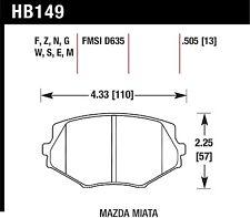 Disc Brake Pad-DTC-60 Front Hawk Perf HB149G.505 fits 99-05 Mazda Miata