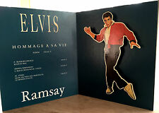 ELVIS PRESLEY RARE  PLV 3D-STAND UP PROMO-ELVIS HOMMAGE A SA VIE EDITIONS RAMSAY