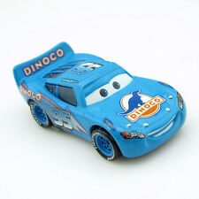 Disney Pixar World of Cars McQueen Lightning Dinoco Diecast Car Blue