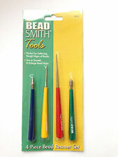 Beadsmith 4 Piece Bead Reamer Set for softening rough edges of beads