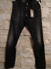 DSQUARED2 MEN'S SEXY BLACK JEANS TIGHT BOTTOM LONG CROTCH ITALY SIZE 42/30