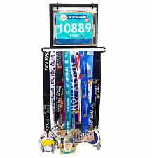 LISH NEW Wall Mounted Runners Race Bib and Marathon Medal Display Holder Rack