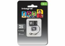 Integral 8GB microSDHC Class 4 Card plus USB Reader. [INMSD8G4NAUSBR]
