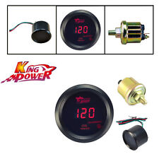 "2"" 52mm Digital Red LED PSI Oil Pressure Press Gauge With Sensor For Car Truck"