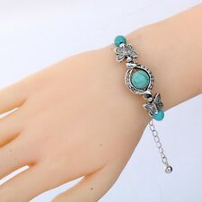 Silver Plated Handmade Butterfly chain adjustable Bracelet Bangle Beautiful Gift