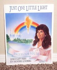 Just One Little Light Piano/Vocal by Janice Kapp Perry Values Youth MORMON PB