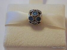 NEW! AUTHENTIC PANDORA CHARM TEAL STUDDED LIGHTS #791296MCZ