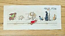 Antique Signed Boris O'Klein Etching French Dirty Dogs The Dirty Dogs of Paris
