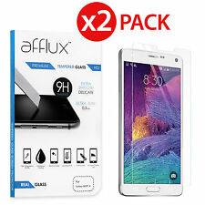 2 Pack Premium Real Tempered Glass Screen Protector for SAMSUNG GALAXY NOTE 4