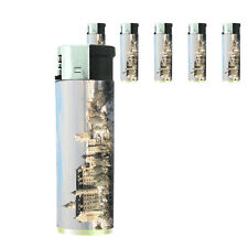 Famous Landmarks D12 Lighters Set of 5 Electronic Refillable Neuschwanstein