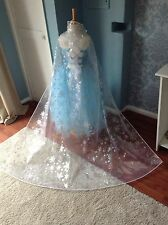 Disney Insp Frozen Elsa Snowflake Cape, Drags on Floor Cape, 50cm, 1m and 1.5m