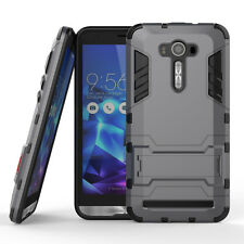 Shockproof Armor TPU + PC Case Stand For ASUS ZenFone 2 Laser ZE601KL-Gray