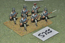 25mm napoleonic prussian light infantry 6 figures (5755) metal painted