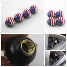 4Pcs Car Pickup SUV American Flag Ball Wheel Tire Valve Stem Air Dust Caps Cover