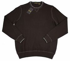 New ISAIAH CIARRAI Brown 100% Cashmere Crewneck Sweater 50 L NWT $395!