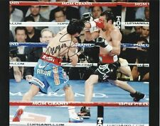 MANNY PACQUIAO Signed 10x8 Photo WORLD WELTERWEIGHT BOXING CHAMPION COA