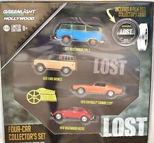 GREENLIGHT HOLLYWOOD GREEN MACHINE 1971 VW TYPE 2 LOST 4-CAR COLLECTOR'S SET