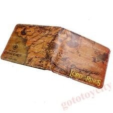 The Lord of the Rings Middle-earth Map Bi-Fold Leather Wallet Purse New