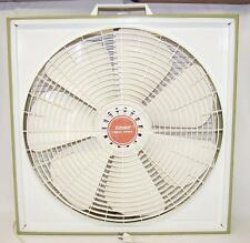 "Vintage Zayre 20"" Box Fan Avocado Green Great shape 7 blade 70's"
