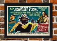 Framed Forbidden Planet Movie Poster A4 / A3 Size In Black / White Frame.