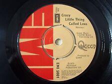 """Queen Crazy Little Thing Called Love A-2 B-1U ♫LISTEN♫ UK 7"""" EMI 5001 1979 EX"""
