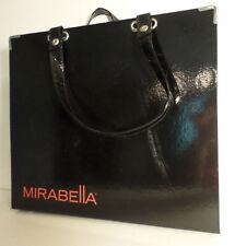 Mirabella Briefcase Tote Unique Shiny Black 8 Pockets Sturdy Minor Issues Rare