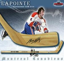 GUY LAPOINTE Signed & Inscribed CCM Wood Model Stick - Montreal Canadiens