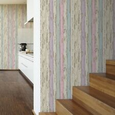 Dekora Natur Multi Wood Wallpaper Distressed Painted Wooden Panel 95883-2