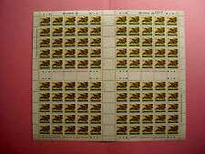 TANZANIA 1984 WILDLIFE REPRINTS  80cents value FULL SHEET 100  PRISTINE and MNH.