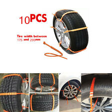 10pc Thickened Tendon Slip Chains Car Truck Snow Wheel Tyre Tire Antiskid Chains