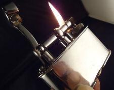 Dunhill Unique Petrol Table Lighter - 'Half Giant' - Chrome - Feuerzeug/Briquet