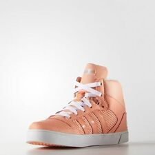 WOMEN ADIDAS NEO HOOPS VULC MID SHOES Sun Glow/Blue Zest size UK 4