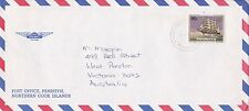 BD192) Penrhyn OHMS Air mail cover bearing: Sailing. Price: $6