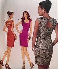 NEW 2011 'BUTTERICK' FITTED DRESS - BACK DETAILS SEWING PATTERN 5601 14-20
