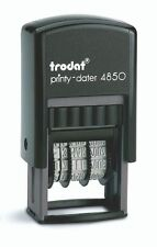 Trodat  Printy 4850/L2 Self Inking PAID Dater Stamp, Red & Blue Ink