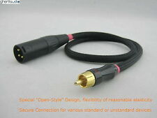 A05 (0.5m 1.5ft) --- RCA/Phono(male) to XLR(male) Choseal 4N-OFC Audio Cable