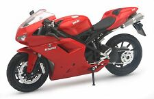 "NewRay Ducati 1198 diecast 1:12 scale motorcycle 6.5"" model Red N37"