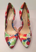 Jessica Simpson Meadow Floral Fabric Stilettos High Heels Sz 7 New Retail $70