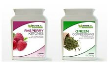 30 Raspberry Ketone & 30 Green Coffee Bean Extract Diet Weight Loss Bottle Pack