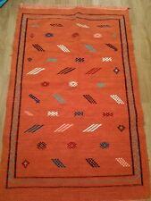 Moroccan Rug New Handmade Rug Orange Hand Made Carpet