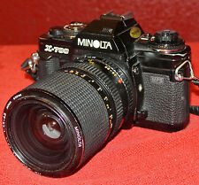 Minolta X-700 Film Camera & Minolta MD 28-85mm Zoom Lens & Multi Function Back