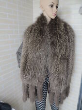 New Braid real  fox fur scarf / collar / wrap big size 180*30cm chocolate shawl