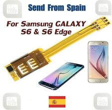 Dual SIM Card Adapter for Samsung Galaxy S6, S6 EDGE, Alpha, A3, A5 and A7