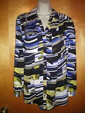 NWT NEW womens S M size 6  black purple white yellow ALFANI tunic shirt blouse